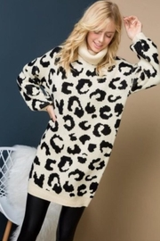 Blue Blue Animal Print Sweater - Product Mini Image