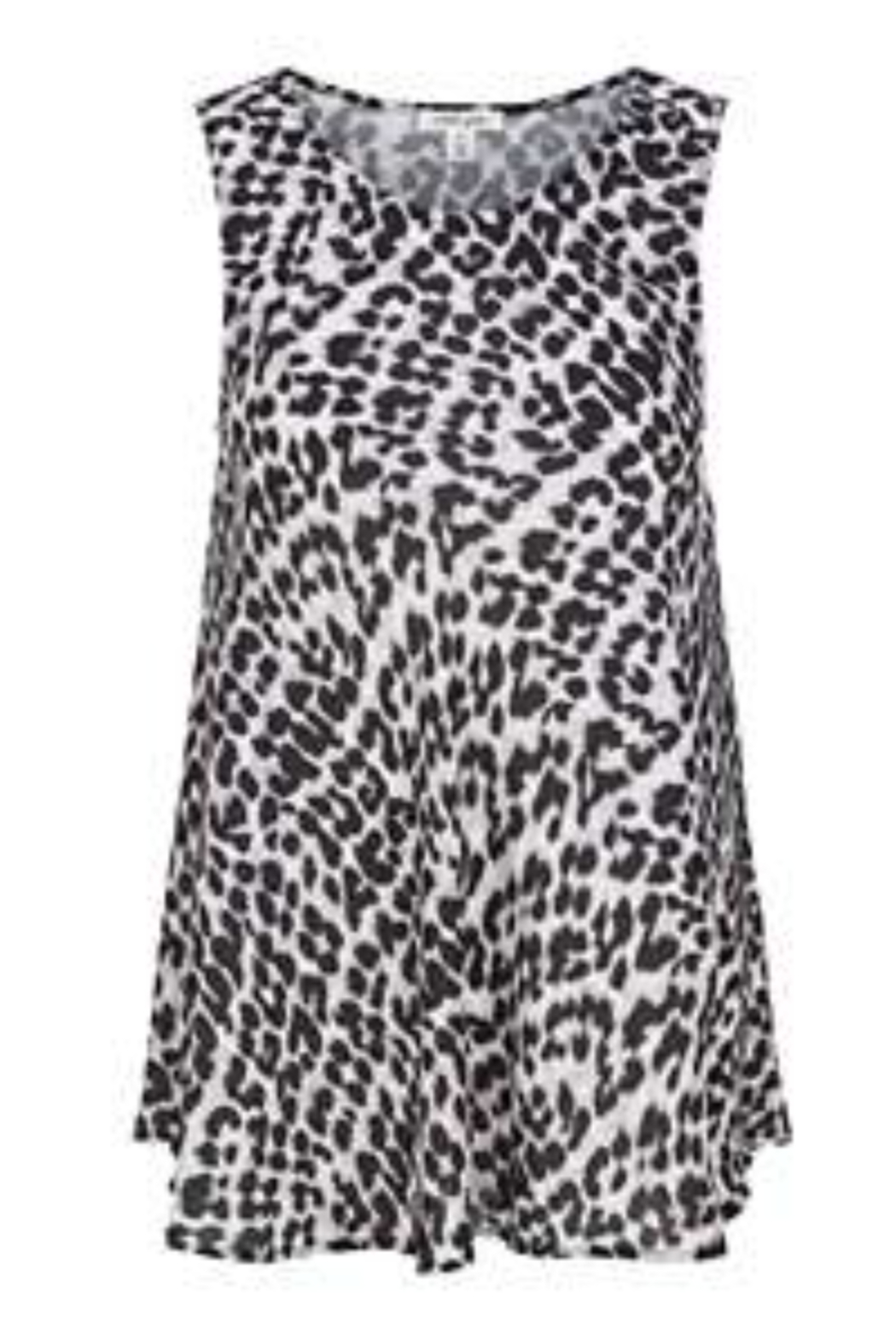 Tribal Jeans Animal Print Swing Tank - Front Cropped Image