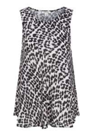 Tribal Jeans Animal Print Swing Tank - Front cropped