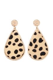 Riah Fashion Animal-Print Teardrop-Shape Inset-Earrings - Product Mini Image