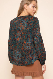 Mittoshop ANIMAL PRINT TIE DETAIL BLOUSE - Side cropped