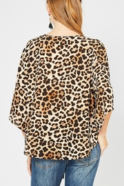 Entro Animal-Print Tie Front - Side cropped