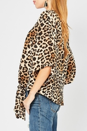 Entro Animal-Print Tie Front - Front full body