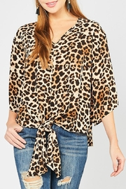 Entro Animal-Print Tie Front - Front cropped