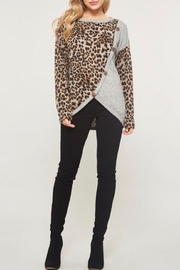LuLu's Boutique Animal Print Top - Product Mini Image