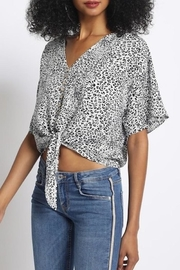 Ivory Animal Print Top - Product Mini Image