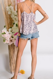 Davi & Dani Animal Print Top - Front full body