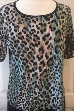 Damee Animal print top with tiny rhinestones - Product List Image
