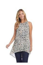 Karen Kane Animal Print Tunic Tank Top - Product Mini Image