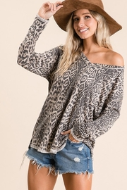 Ces Femme Animal Print Tunic Top - Product Mini Image