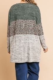 Umgee Animal Print V-Neck Tunic PLUS SIZE - Front full body