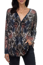 Ariella USA Animal print v neck zipper top - Product Mini Image