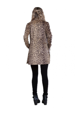Patrizia Luca Animal print vegan suede coat with side snaps - Alternate List Image