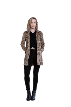 Patrizia Luca Animal print vegan suede coat with side snaps - Product List Image
