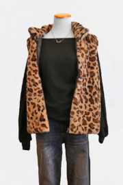 Adore Animal Print Vest - Front cropped