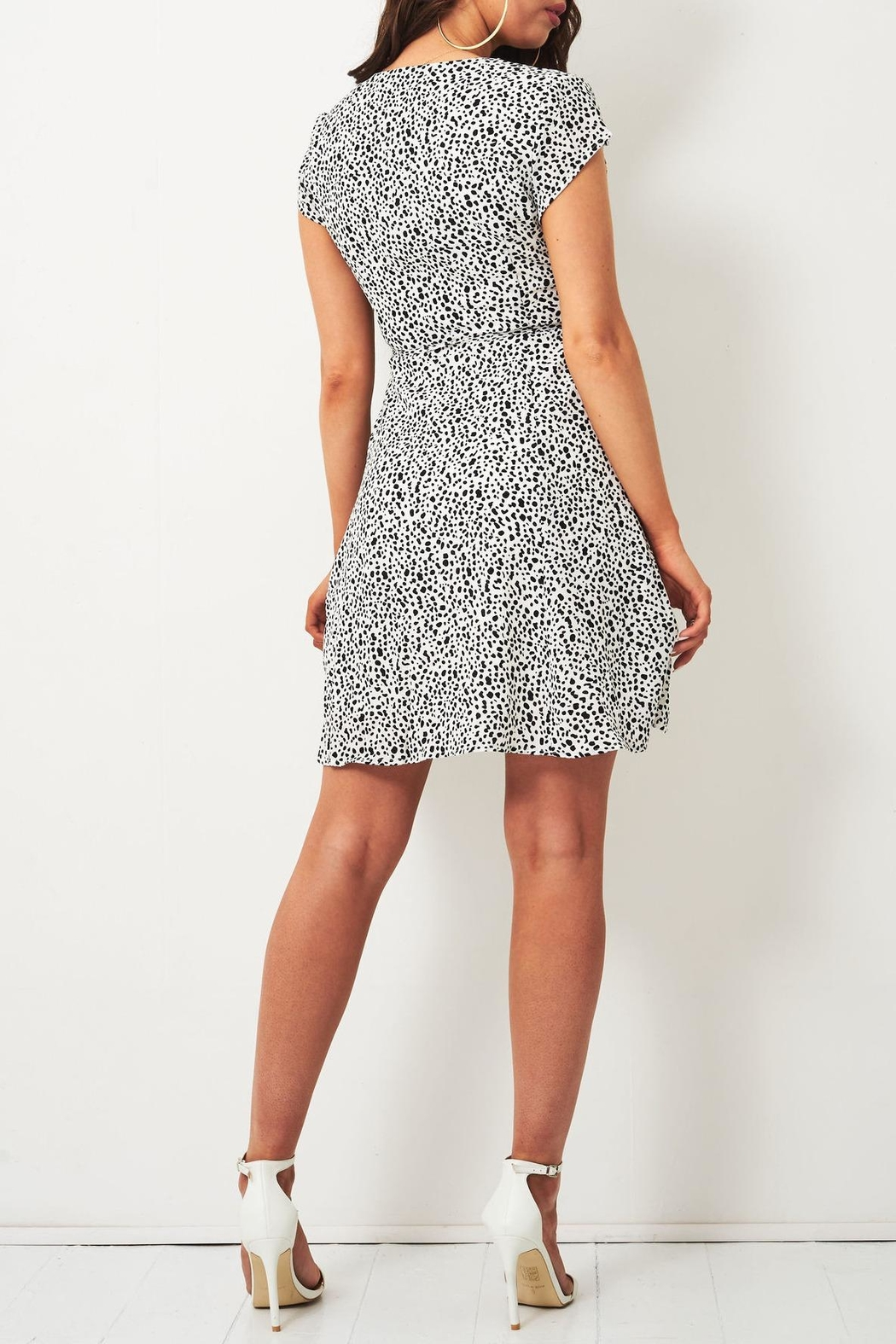 frontrow Animal-Print Wrap Dress - Side Cropped Image