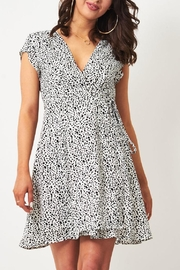 frontrow Animal-Print Wrap Dress - Front cropped