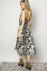 Davi & Dani Animal Print Wrap Dress - Side cropped
