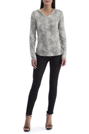 Bobeau Animalistic Spot Brushed Hoodie - Front cropped