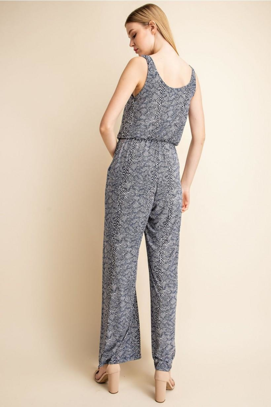 Unknown Factory Animalprint Jumpsuit - Front Full Image