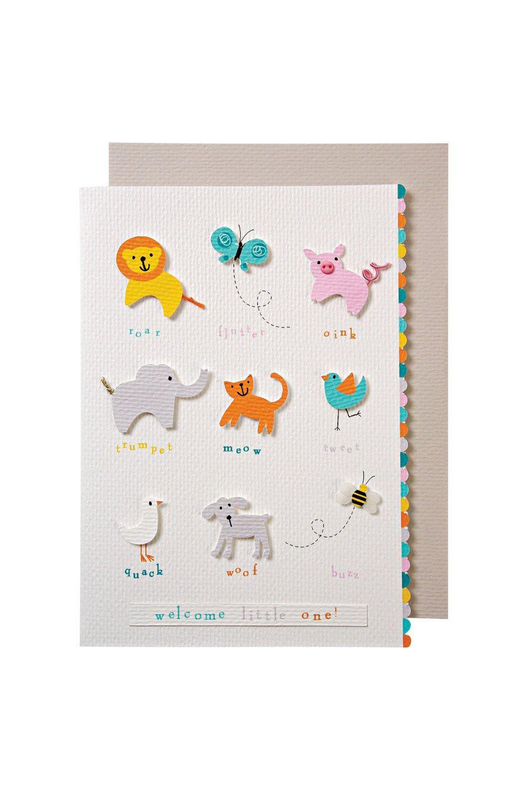 Meri Meri Animals Baby Card - Main Image