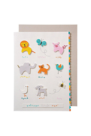 Meri Meri Animals Baby Card - Front cropped