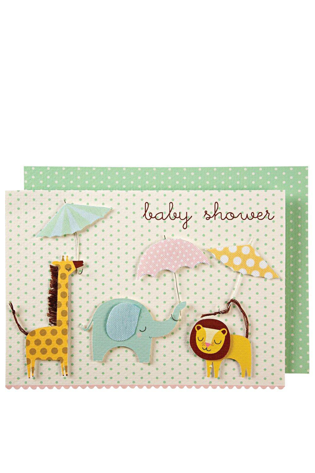 Meri Meri Animals With Umbrellas Card - Main Image