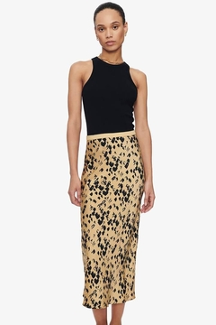 Shoptiques Product: Bar Silk Skirt Painterly Leo