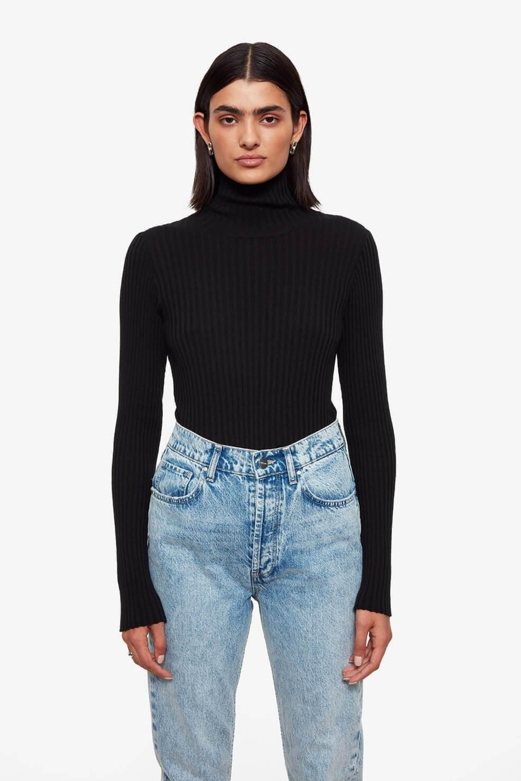 Anine Bing Clare Top In Black - Main Image