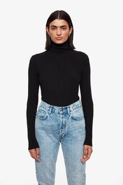 Anine Bing Clare Top In Black - Product Mini Image