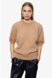 Anine Bing Corey Sweater In Camel - Front cropped
