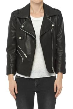 Anine Bing Cropped Leather Jacket - Product List Image
