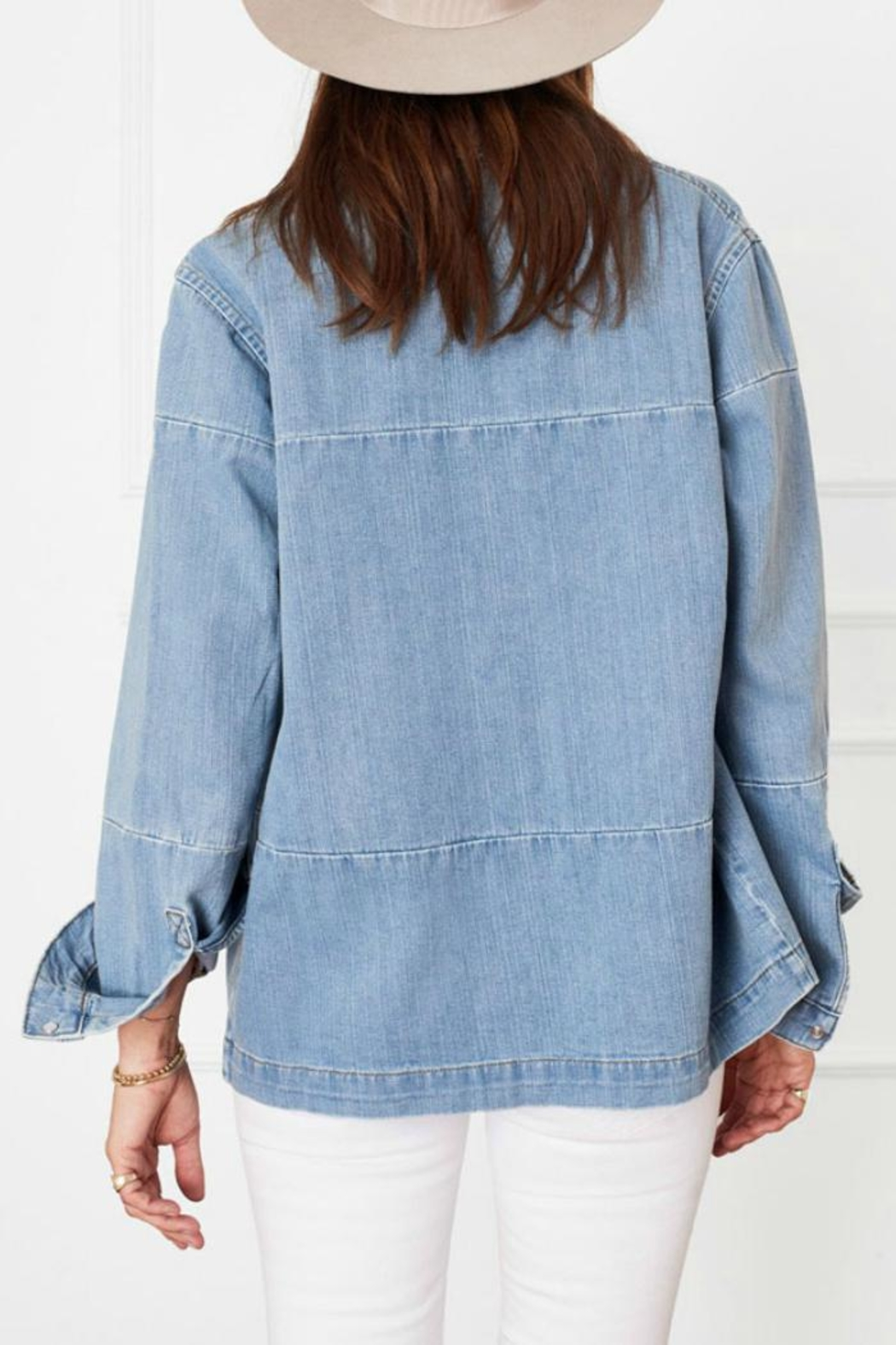 Anine Bing Denim Shirt - Side Cropped Image