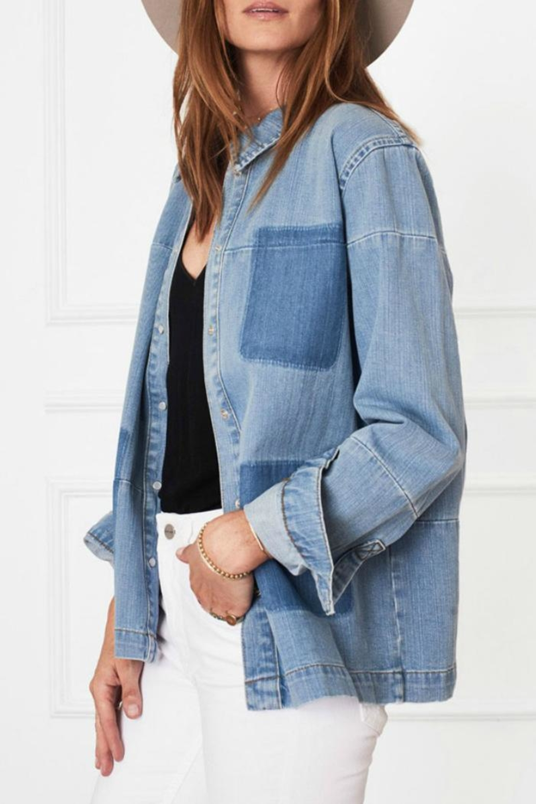 Anine Bing Denim Shirt - Back Cropped Image