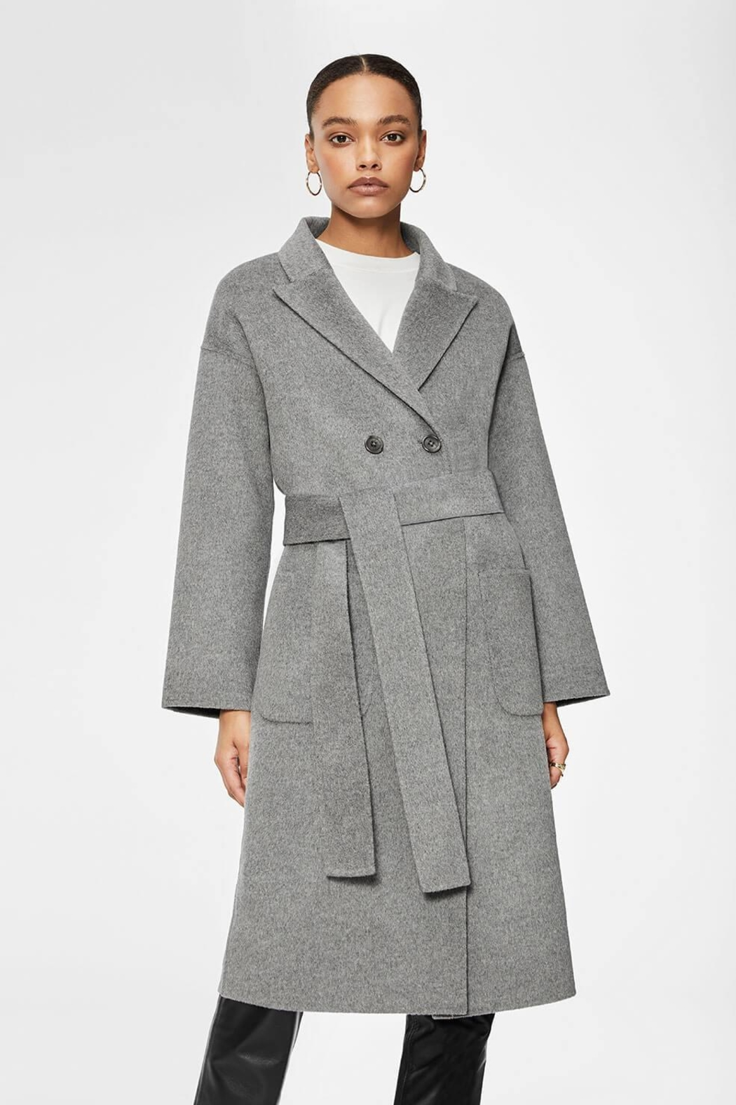 Anine Bing Dylan Coat Grey - Front Cropped Image