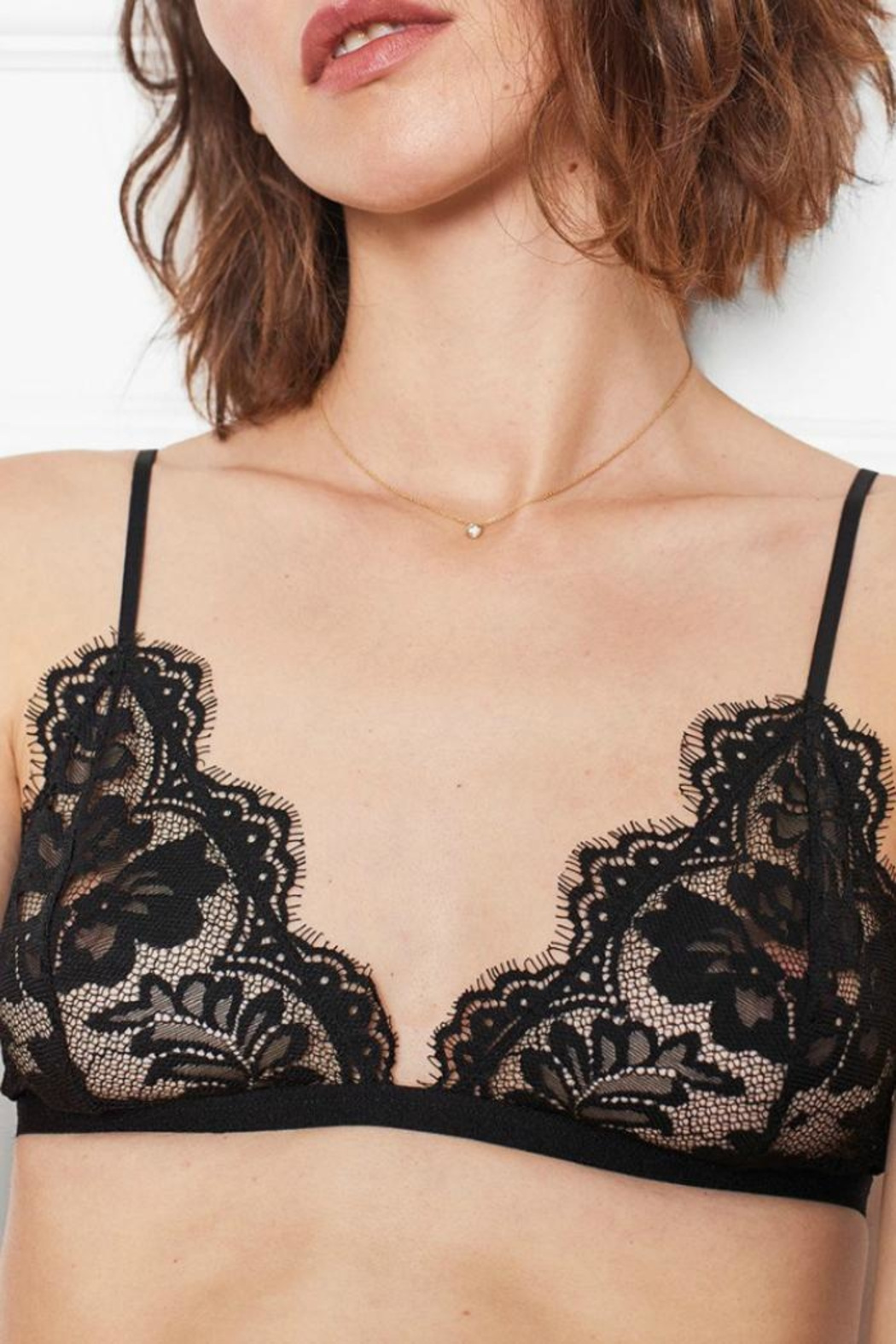 Anine Bing Floral Lace Bra - Front Full Image