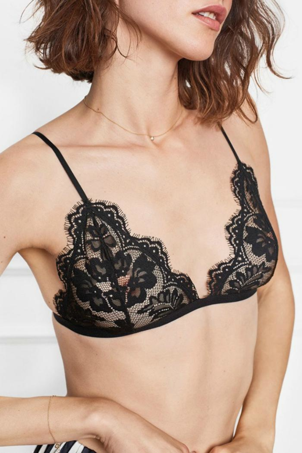 Anine Bing Floral Lace Bra - Main Image