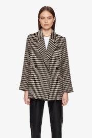 Anine Bing Kaia Blazer Houndstooth - Front cropped