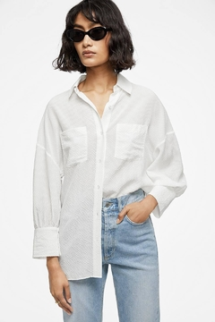 Anine Bing Monica Blouse White - Product List Image