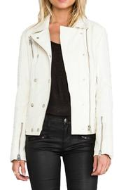 Anine Bing Moto Leather Jacket - Front cropped