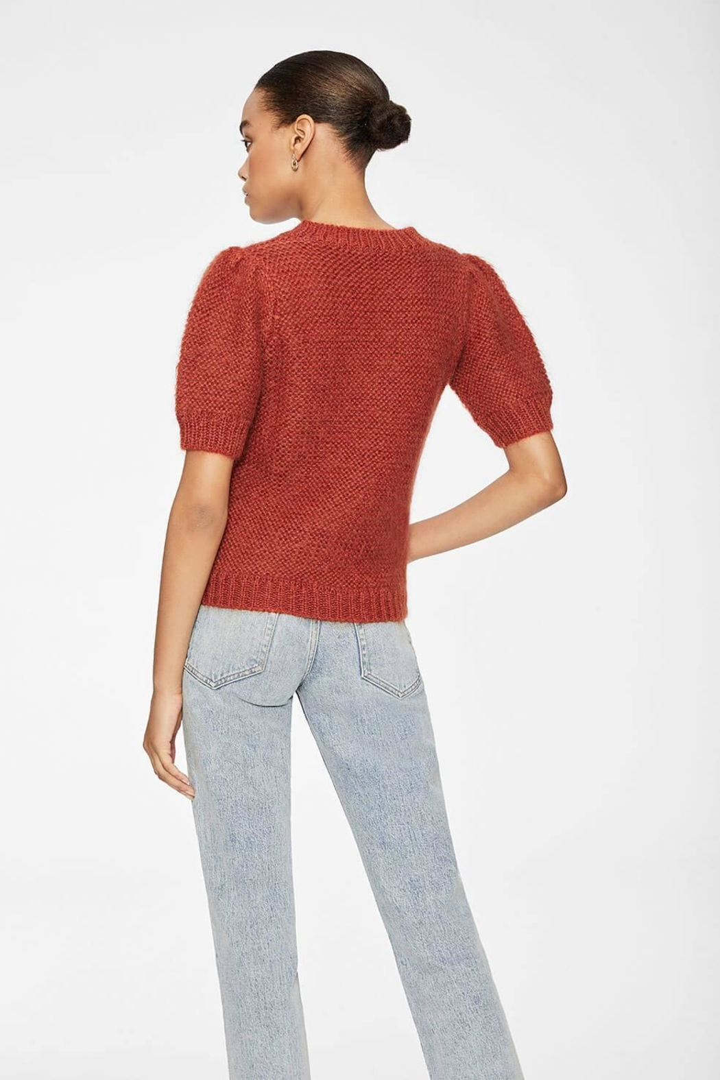 Anine Bing Nicolette Sweater Rust - Back Cropped Image