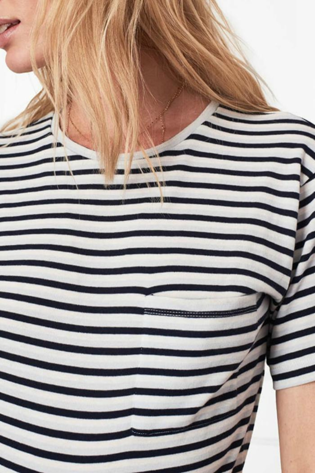 Anine Bing Striped Tee - Front Full Image