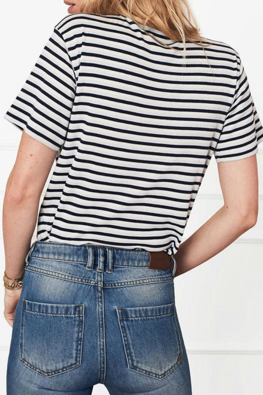 Anine Bing Striped Tee - Side Cropped Image