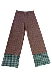 Anisya Orange Green Palazzo Pants - Product Mini Image