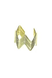 Anju Handcrafted Artisan Jewelry Gold Zigzag Cuff - Product Mini Image