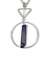 Anju Handcrafted Artisan Jewelry Sodalite Geometry Necklace - Product Mini Image