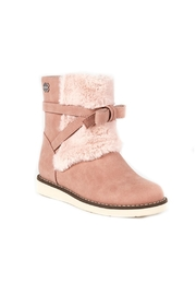 Mayoral Ankle-Boots-In-Pink-With-Faux-Fur-Detailing - Front cropped