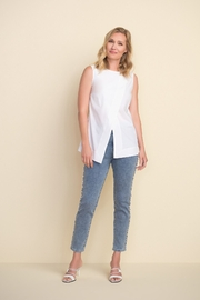 Joseph Ribkoff  Ankle length light denim jeans with beading on sides - Back cropped