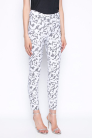 tribal  Ankle Length Pants Printed With Gingham and Leaves - Product Mini Image
