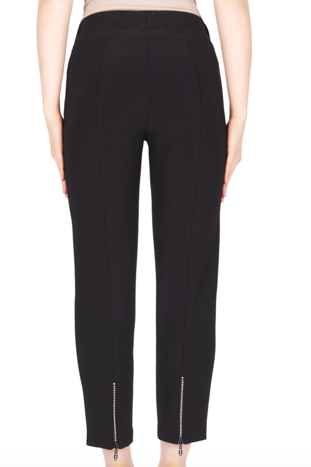 Joseph Ribkoff  Ankle Pant with Zipper at back of Ankle - Side Cropped Image